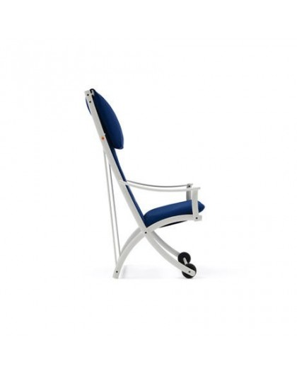 OSTENDA- armchair and chaise longue white structure