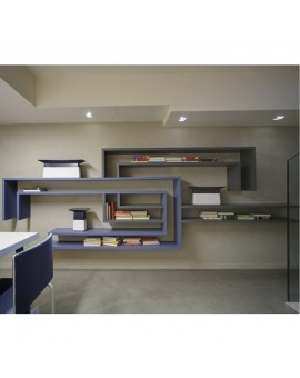 LINE - Bookcase of two colors, composition dual C